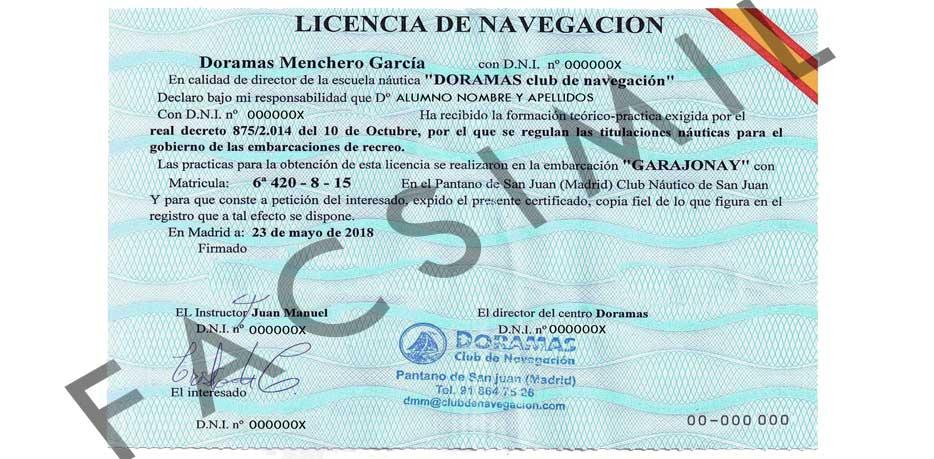 titulín y su sucesor la licencia de navegación